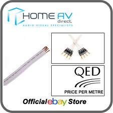 QED Performance ORIGINALE Bi-Wire Altoparlante Cavo Bianco-prezzo al metro-QBO / 50
