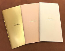New Chanel Notebook NotePad Set of 3 Gold Leaf Hot Stamping on each inside page