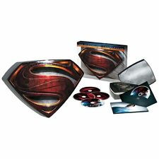 Superman Man of Steel 3D/Blu-ray/DVD/Digital 4-Disc Set Steel Tin 3D New Sealed