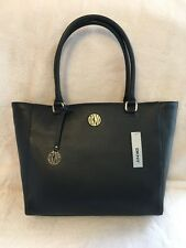 DKNY Ego Soft Leather Tote Shopper Color- Black