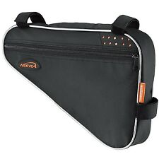 Road / MTB Cycling Triangle bike, Bicycle Frame Bag IBERA FB1 Black