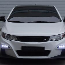 ROADRUNS Front Body Kit Bumper + Grille + LED Daylight for KIA Forte Koup 10-13