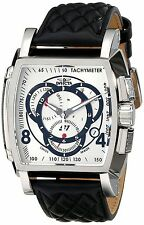 Swiss Made Invicta 15789 S1 Rally Chronograph Leather Strap Silver Dial Watch