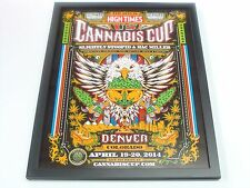 "2ND OFFICIAL DENVER U.S.""RECREATIONAL"" CANNABIS CUP HIGH TIMES RARE POSTER+FRAME"