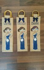 4 x Bottle bag wedding gift bridesmaid,mother of the bride thank you