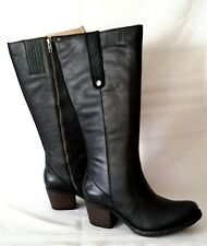 Born Carney Black Leather Knee High Boots Women Size 10/ 42 NEW