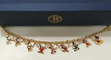 Bradford Exchange Disney MICKEY MOUSE THROUGH THE YEARS Charm Bracelet BNIB