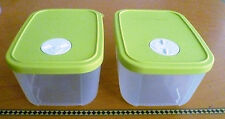 Tupperware FREE SHIP NEW Set 2 Control Freezer Container w/ Dater Disk 3 cup e.o