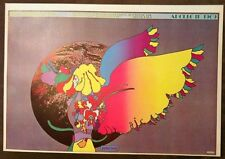 "Peter Max ""Apollo No.2""Psychedelic Pop Art Poster, Authentic Vintage 1970.11x16"""