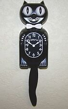 Kitty Cat Clock, The Smaller Cuter Kit Cat Clock, Black Pendulum Wall Klock.