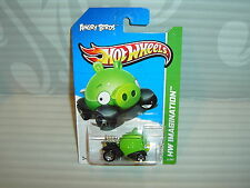 2012 HOT WHEELS ''HW IMAGINATION'' #35 = ANGRY BIRDS  = GREEN MINION PIG  int...