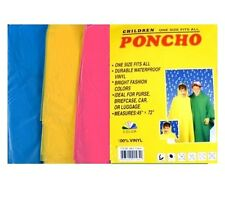 2 Pack Emergency One Size Childrens Kids Poncho Cape Theme Park Rain Outdoor