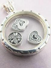 Luxurious Gift Pandora Floating Locket With Love & Family Petites Elements