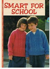 My Weekly Knitting Pattern from magazine - SMART FOR SCHOOL -  chunky sweaters