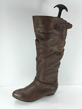 Steve Madden Womens Brown Leather Knee Boots 6 M