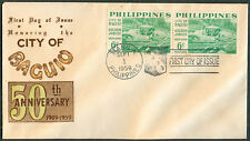 1959 Philippines Honoring the CITY OF BAGUIO 50 Anniversary 1909-1959 FDC