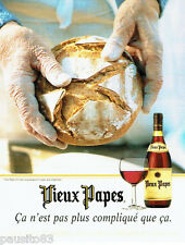 PUBLICITE ADVERTISING 026  1997  Vieux Papes vins & pain