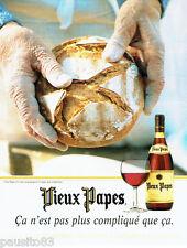 PUBLICITE ADVERTISING 026  1997  Vieux Papes vins & pain