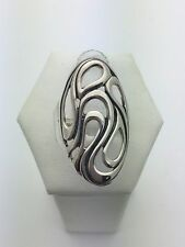 Sterling Silver Ladies Oval Long Free Form Design Ring Size 7, 5 grams