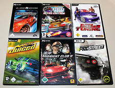 6 Street Racing giochi PC-Midnight Club Juiced Need for Speed Underground RPM