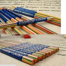 New 10pcs/Lot Rainbow Color Pencil 4 in 1 Colored Print Drawing Painting Pencils