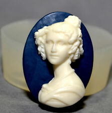Lady Cameo - silicone mould classical cupcake resin clay fimo plaster mold