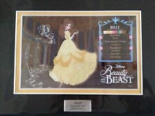New Disney Belle Beauty and the Beast Matted Character Key Variant Cel Ltd Ed.