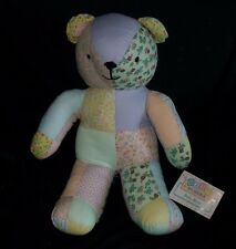 AMERICAN PACIFIC BABY BLOCKS PASTEL QUILT TEDDY BEAR STUFFED ANIMAL PLUSH TOY