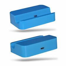 Blue Desktop Charging Station Dock Stand Micro USB For Microsoft Lumia 535
