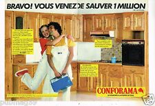 Publicité advertising 1979 (2 pages) Les magasins Conforama