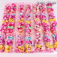 Wholesale Baby Kids Girl Hair Bobble Bow Floral Toddler Girls Elastic Hair Bands