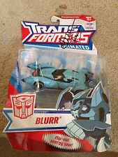 TRANSFORMERS ANIMATED Deluxe G1 Deco Autobot Blurr signed john moschitta