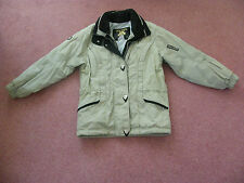 GIRLS / LADIES DESCENTE TWO PIECE SKI SUIT - BEIGE - HIGH TECH - EX. CONDITION