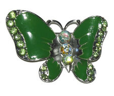 Nw green silver Butterfly Rhinestone Crystal enamel Pin Brooch wedding party #15