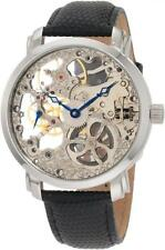 Akribos XXIV AK406SS Davinci Mechanical Skeleton Stainless Steel Mens Watch