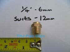 "Brass Radiator Air Bleeding Valve 1/4"" / 6mm *TO SUIT 12mm RADIATOR HOLE*"