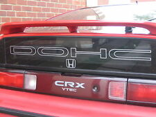 DOHC Tailgate Sticker / Decal for a Honda CRX EE8 / EF8 - FREE P&P