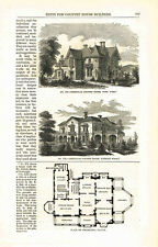 1860s 13 page article on country houses  from Harper's Monthly by Calvert Vaux