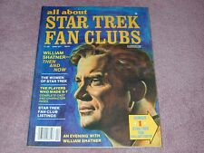 ALL ABOUT STAR TREK FAN CLUBS magazine # 3 - William Shatner - Capt. Kirk cover