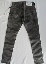 True Religion Slim Moto Single End Coated Jeans-Slow Ride Camo- Size 27-NWT $326
