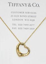 Tiffany & Co 18ct 18k GOLD Elsa Peretti 16mm Open Heart Collana-RRP £ 730