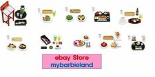 Re-ment Full Set of 10 FAMILY RESTAURANT Barbie Size Miniature Food VHTF RARE
