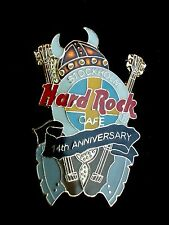 HRC Hard Rock Cafe Stockholm 14th Anniversary Brown Viking Helmet Kiss Axe LE750