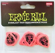 Ernie Ball Everlast High Performance Guitar Picks - 12 Medium Pink .73mm