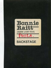 Bonnie Raitt - backstage pass Greem Light Tour - Philadelphia