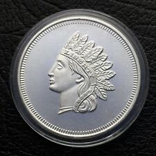 Vintage Indian Head Penny Design 1 Troy oz .999 Fine Silver Coin (0117)
