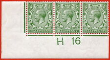 "SG. N14 (12). ½d Olive Green. A very fine mint control "" H16 imperf ""."