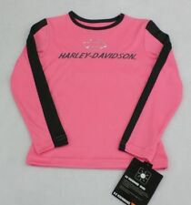 Harley-Davidson Girls Pink Long Sleeve Poly Tech Shirt Size 6X
