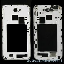 OEM White Housing Middle Frame Repair Parts For Samsung Galaxy Note 2 II N7100