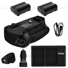 Battery Grip for Nikon D750 MB-D16 + 2x EN-EL15 Batteries + AC/DC Dual Charger